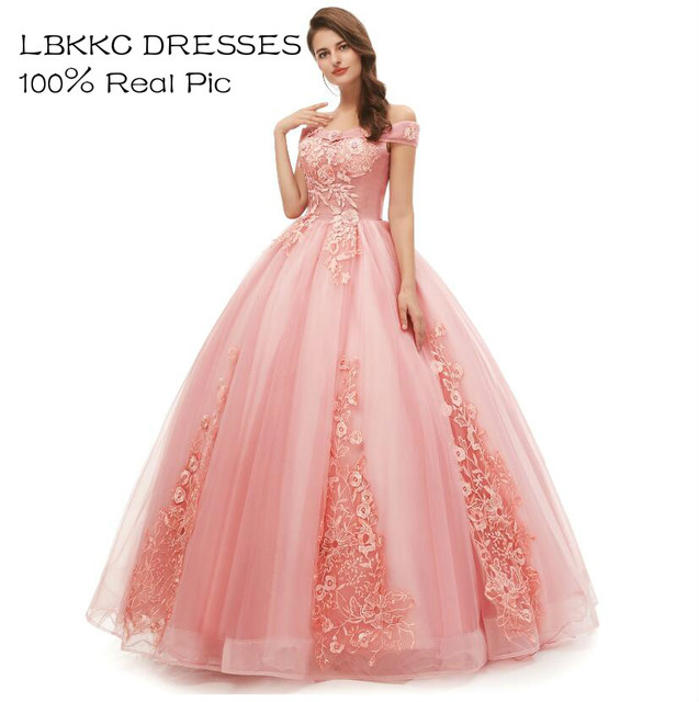Quinceanera Dresses Off Shoulder Tulle Lace Ball Gowns Long Prom Dresses Sweet 16 Dresses Vestido De 15 Anos Quinceanera 2019