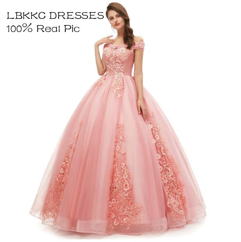 Quinceanera robes épaules nues Tulle dentelle robes De bal longues robes De bal doux 16 robes Vestido De 15 Anos Quinceanera 2019