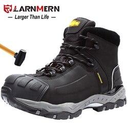 Larnmern botas de segurança de trabalho masculino construção respirável calçado de proteção de aço toe anti-smashing antiderrapante à prova de areia sapatos