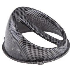 Z włókna węglowego Scoop powietrza pokrywa wentylatora czapka z tworzywa sztucznego do GY6 125 150cc skuter|Wentylatory i zestawy|Samochody i motocykle -