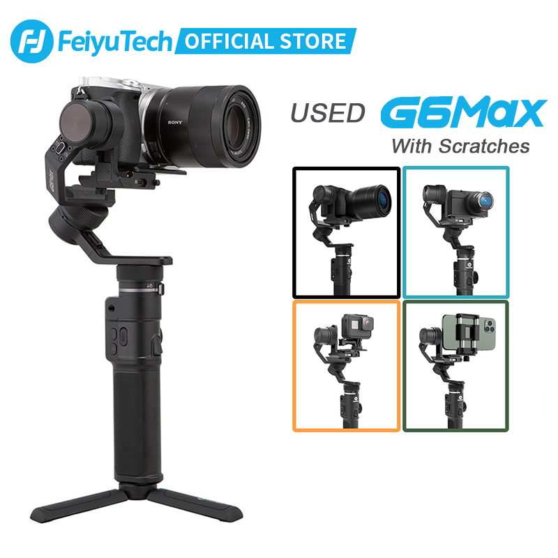 Verwendet FeiyuTech Feiyu G6 Max 3-Achse Handheld Kamera Gimbal Stabilisator für RX100 Ⅳ für GoPro Hero 7 Smartphone für Canon EOSM50