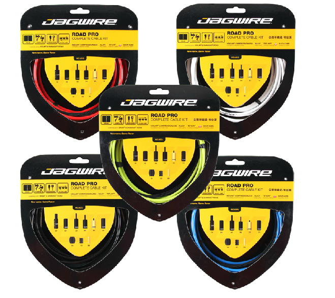 Shifters and Brakes COLORS New JAGWIRE Racer Road Kit