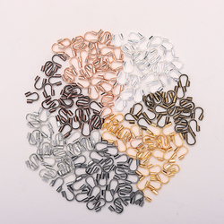 100pcs/lot 4.5x4mm Wire Protectors Wire Guard Guardian Protectors loops U Shape Accessories Clasps Connector For Jewelry Making