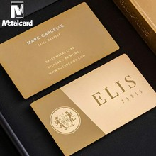Stainless steel mirror plating gold business card business membership card high-end metal card customization