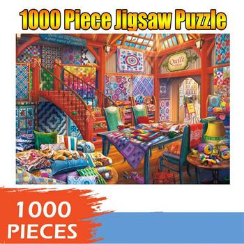 Motyw świąteczny Puzzle Jigsaw s 1000 Piece Puzzle duże Puzzle Jigsaw dla dorosłych Puzzle dla dzieci gry świąteczne prezenty edukacyjne tanie i dobre opinie CN (pochodzenie) Unisex 2-4 lat Papier COMMON Krajobraz none 1000PC puzzle landscape map
