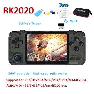 Nowa gra wideo RK2020 gracze kieszonkowa Retro przenośna konsola do gier na PSP/DC/N64/MAME 3.5 Cal ekran wbudowany w 15000 + gry