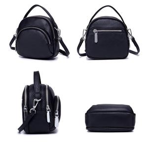 Image 5 - حقيبة ساعي الإناث جلد طبيعي السيدات حقائب كتف العلامة التجارية حقيبة يد نسائية صغيرة Damestas لصور السيدات لينة شكل قذيفة جديدة