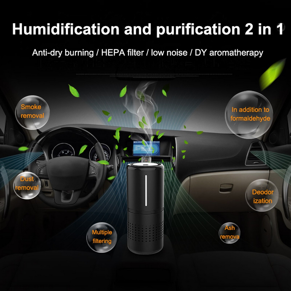 Car Air Purifier with HEPA Filter Ionic Purifiers Car Air Purifier Infrared Sensor Air Cleaner Car Ionic Purifier for Home