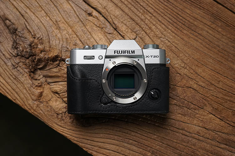 Image 4 - AYdgcam Genuine Leather Camera case Handmade Video Half Bag For Fuji Fujifilm XT10 XT20 XT30 Retro Vintage Bottom Case-in Camera/Video Bags from Consumer Electronics