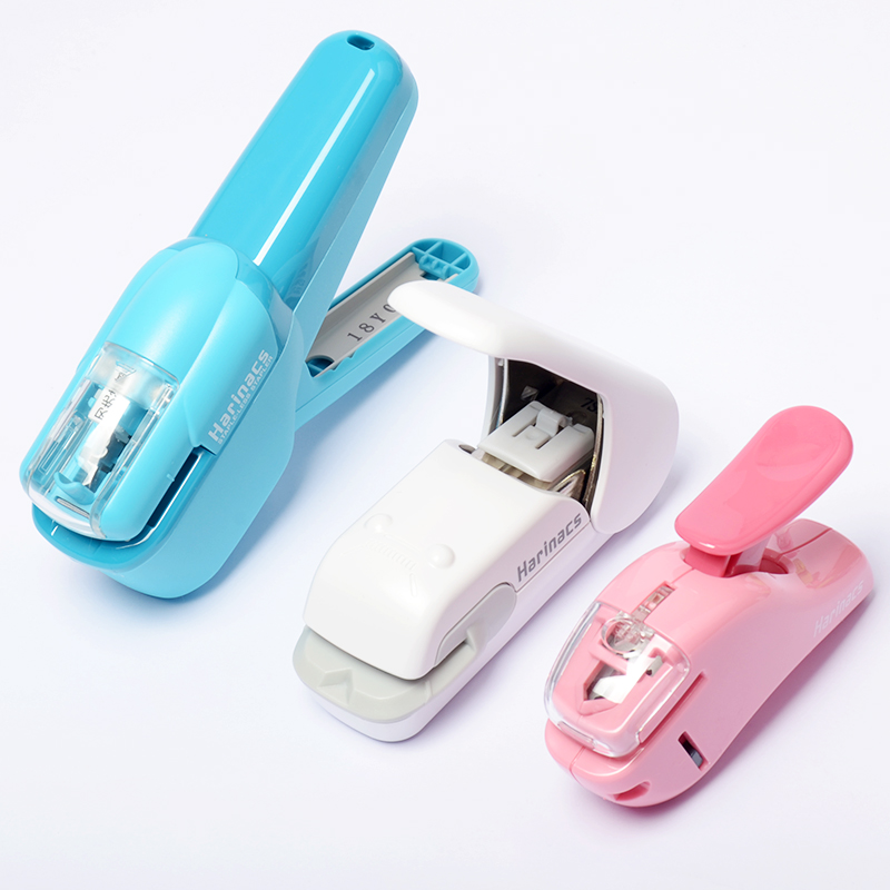 1 Pc KOKUYO Staple-free Harinacs Press Type Embossing Large Plier Stapler Mini-clamp Needleless Creative And Effortless Portable