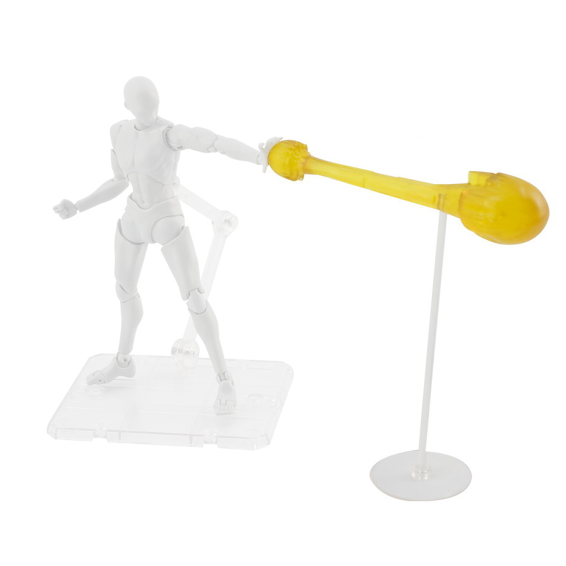 Shock Wave Decoration Solid Special Effects With Holder For Model - Transparent/Purple/Blue/Yellow