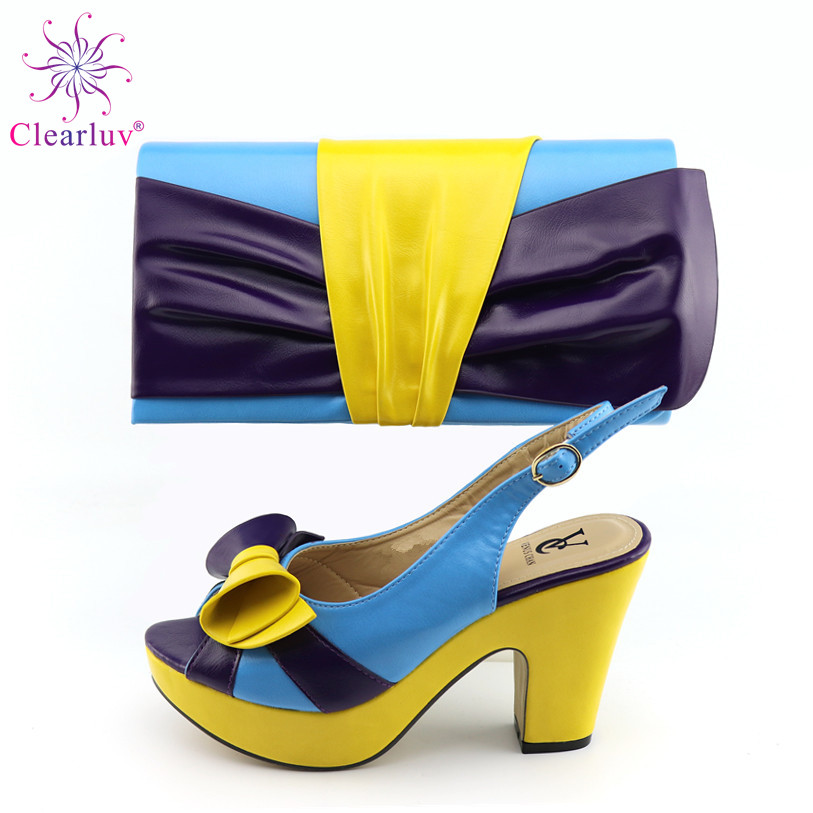 New Italian In Women Bag and Shoe Set Teal Bag and Shoe Set Rhinestone Wedding Shoes Sales In Women Matching Shoes and Bag Set