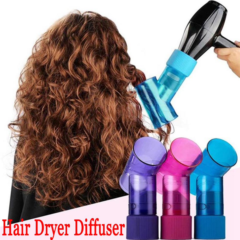 Cute Curly Hair Salon Plastic Wind Spin Roller Diffuser Hair Curler By Hair Dryer Attractive Curl Diffuser Spin Roller Cap