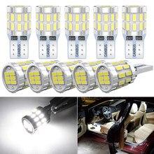 10x T10 W5W LED żarówki Canbus 168 194 światło parkingowe Auto dla Mitsubishi Lancer 9 10 Outlander XL l200 Pajero Sport wolne od błędów