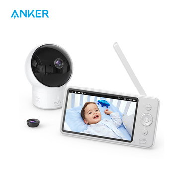Video Baby Monitor, eufy Security Video Baby Monitor with Camera and Audio, 720p HD Resolution,110° Wide-Angle Lens Included mool wi fi video smart doorbell with 2 ways audio and video sensor1280 x 720 field of view180 degree video hd 720p