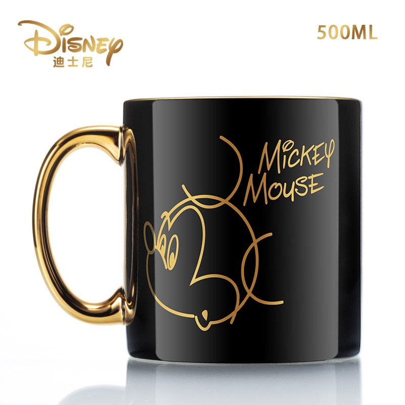Creative Disney Minnie Mickey Cartoon Water Cup Coffee Milk Tea Breakfast Ceramic Mug Home Office Collection Cups Festival Gifts