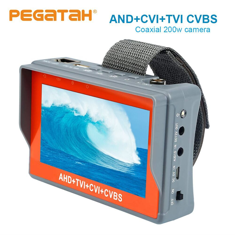 New 4.3 inch 5MP 1080P Camera Tester AHD TVI CVI Analog CVBS in 1 CCTV tester Monitor Support UTP PTZ test cctv tester