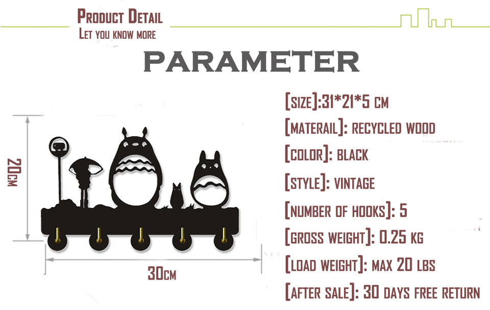 Mon Voisin Totoro Ghibli Studio Patere Murale Crochets A Cles Fait Main Bois Maison Rangement Crochets Muraux Porte Cle Manteau Sac Cintre Aliexpress