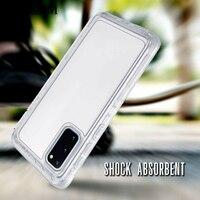 Chiaro 360 Casse Del Telefono Per Samsung Galaxy S20 Ultra S10 Nota 20 10 Più 9 8 S9 S8 S7 Copertura 3 in 1 Defender Antiurto Case + Film