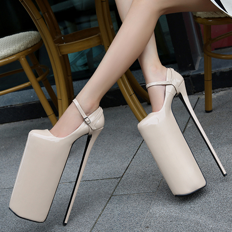 <font><b>30cm</b></font> super high <font><b>heel</b></font> pumps elastic pointy stiletto <font><b>heels</b></font> sexy women shoes pumps new show catwalks female super high <font><b>heels</b></font> image