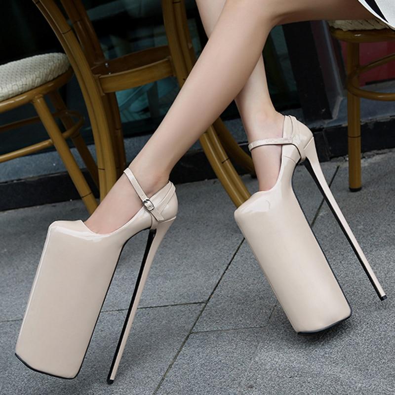 30cm Super High Heel Pumps Elastic