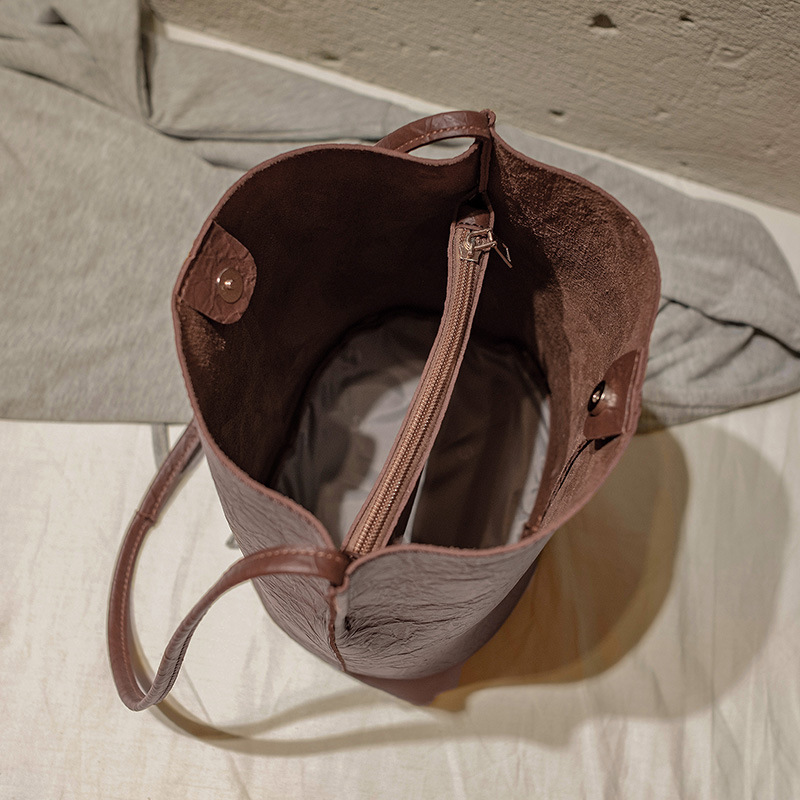 Bag Women Leather Bucket Luxury Handbags Designer 2019 Famous Brand Large Capacity Shopping Travel Shoulder Crossbody