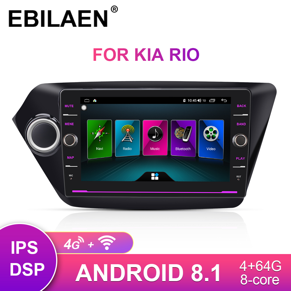 2Din <font><b>Android</b></font> 8.1 Car Multimedia Dvd Player For <font><b>KIA</b></font> <font><b>RIO</b></font> 3 2010-2017 Autoradio Navigation GPS Stereo Radio Cassette Recorder 4G image