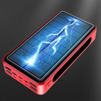 50000mAh Solar Power Bank Qi Wirless Charging Poverbank Mobile Phone External Battery Charger Powerbank 50000 mAh for Xiaomi Mi