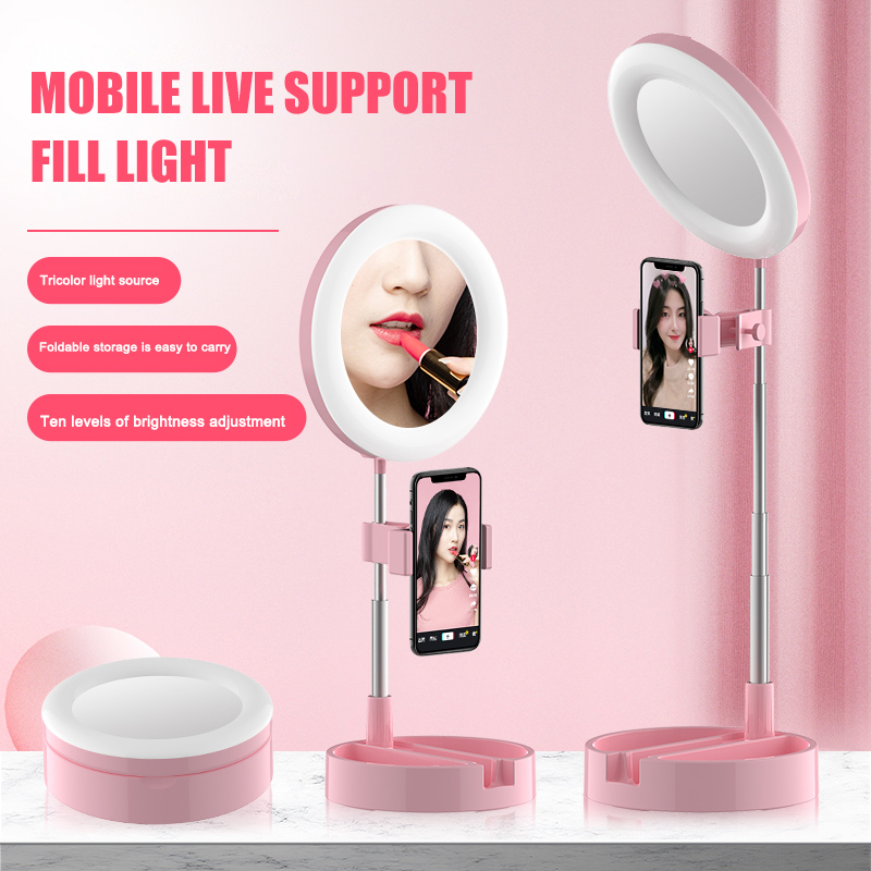 Photo Studio Phone Video Mini Desktop Table LED Ring Light Photography Dimmable Makeup Ring Lamp DJA88