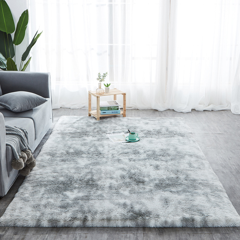 New Tie-dyed Fluffy Carpet Soft Shaggy Area Rug Plush Fur Carpets Home Decor Living Room Bedroom Cover For Seat Car Grey Carpet