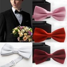 Галстук-бабочка мужской Одноцветный Свадебный галстук-бабочка для мужчин конфетного цвета галстук-бабочка бабочки YJB0001