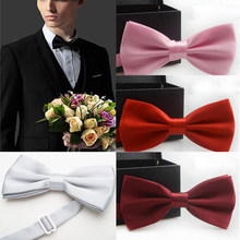 Bow Tie Male Solid Color Marriage Bow ties For Men Candy Color Butterfly Cravat Bowtie Butterflies YJB0001(China)