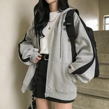 zip-up Harajuku Hoodies For Women clothes Hooded long Sleeve Jumper Hooded Regular Coat Casual korean style Sweatshirt Spring