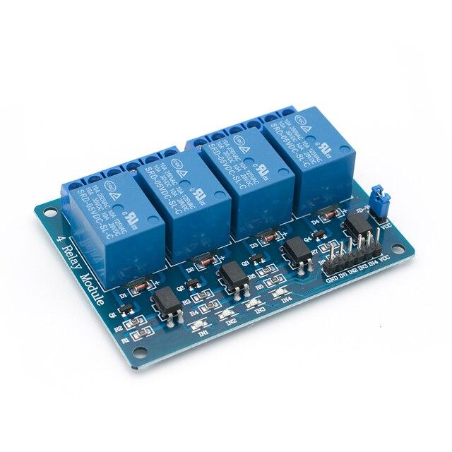 30 개/몫 광 커플러가있는 tenstar 로봇 4 채널 4 채널 릴레이 모듈 릴레이 제어판 plc 릴레이 5 v 4 방향 모듈