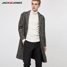 Overcoat Menswear Jackjones Woolen Men's Mid-Length Regular Geometrical-Pattern 219427507