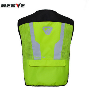 Image 4 - 2020 New  Fashion Germany Motorcycle Riding Fluorescent Safety Vest Knight Reflective Vest suit protector of 3D Mesh 600D Oxford