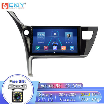 EKIY 8Core 4G LTE IPS DSP Android 9.0 For Toyota Corolla 2017 Car Radio GPS Navigation Stereo Multimedia Player Head Unit BT Wif image