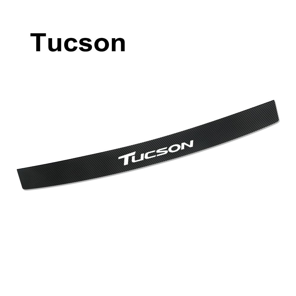 Наклейка на задний бампер автомобиля для hyundai Elantra Accent Tucson i40 i30 i10 i20 Veloster IX35 IX20 Solaris Genesis аксессуары Santafe - Название цвета: For Tucson