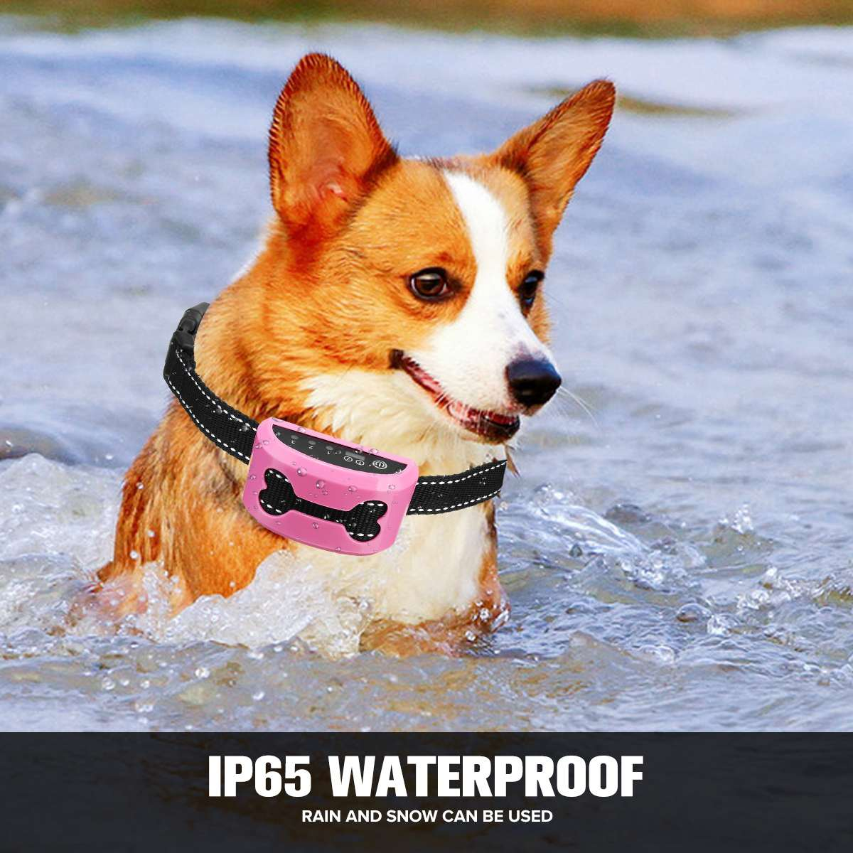 Electric Bark Control Collar for Dog Collar Anti Bark Dog Training Rechargeable Waterproof Shock Collar Auto Anti Bark Device 3