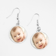 Handmade Personality Photo Family Photo Baby Child Dad Mom Brother Sister Grandparents Family Love Earrings Private Custom