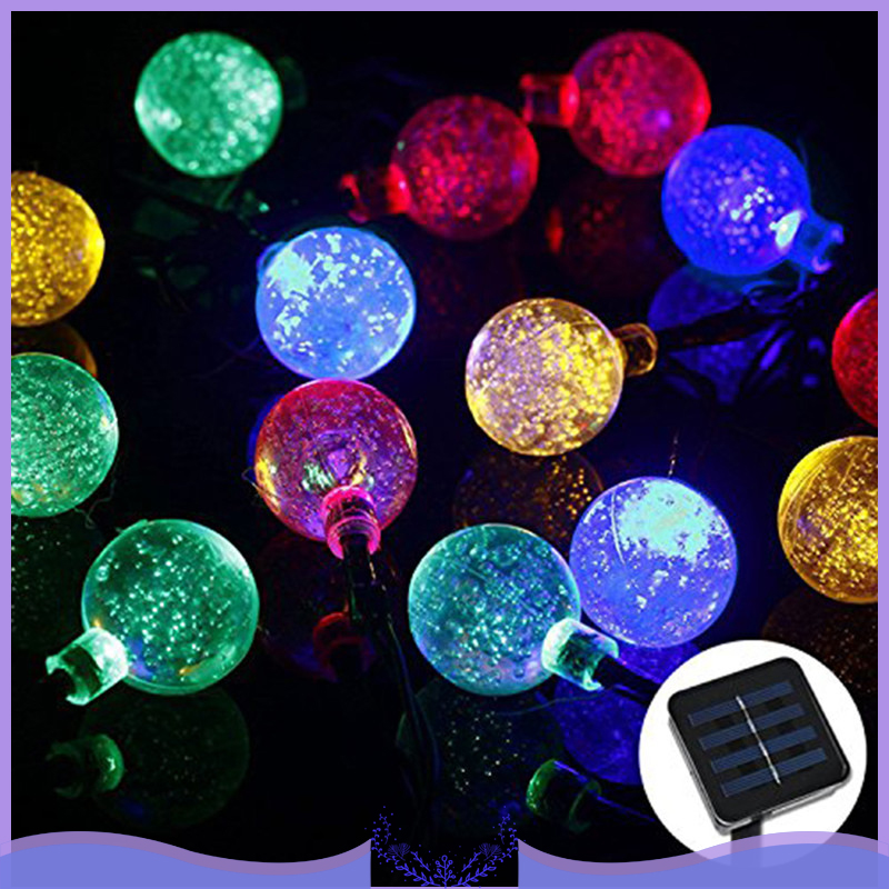 <font><b>30</b></font> LED Crystal Ball Solar Powered Outdoor String Lights for Outside Garde Christmas Fairy Valentines Wedding <font><b>Decoration</b></font> Lamp image