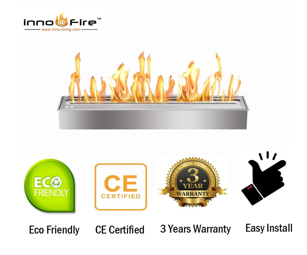 Inno Living Fire 24 Inch Alcohol Burner Stainless Steel Ethanol Burner Insert
