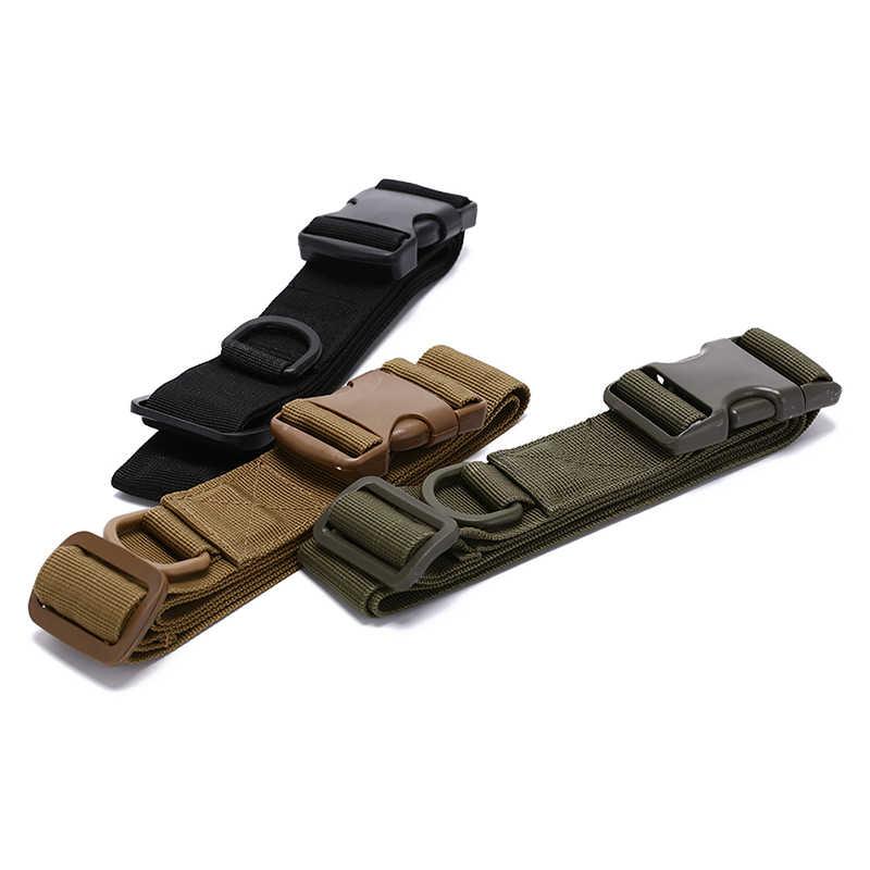 Cinto tático simples equipamentos ao ar livre vestir saco de equitação dentro de saco de náilon vice fãs militares cinto fita de fixação