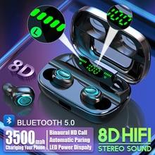 S11 3500mAh Power Bank Earphones Bluetooth Wireless Sport In Ear TWS Gaming Headset Noise E