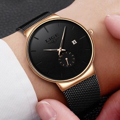 LIGE Fashion Watches Casual Waterproof Quartz Clock Mens Watches Top Brand Luxury Ultra-Thin Date Sports Watch Relogio Masculino Multan
