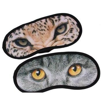 1 sztuk śliczne trójwymiarowe Blindfold maska na oczy ochraniacz do snu do oczu cień podróży do snu do oczu osłona oczu pomoc w leczeniu zaburzeń snu pokrywa kot tanie i dobre opinie KuZHEN CN (pochodzenie) Eyeshade 3d eyeshade Zasłanianie oczu 4-20 cmh2o Sleep chrapanie