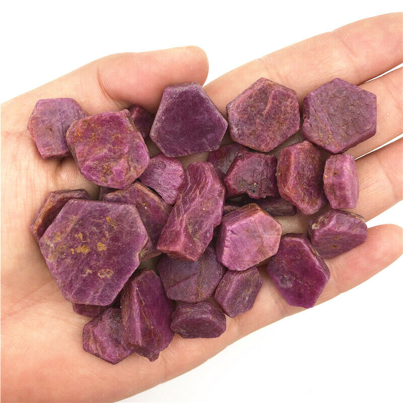 10-20mm 50g Real Corundum Natural Red Ruby Rough Gems Specimen Mineral Healing Stones Natural Quartz Crystals
