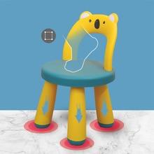 Plastic Chair Furniture Stool Small Children Baby Back Block Non-Slip Thickened Thickened