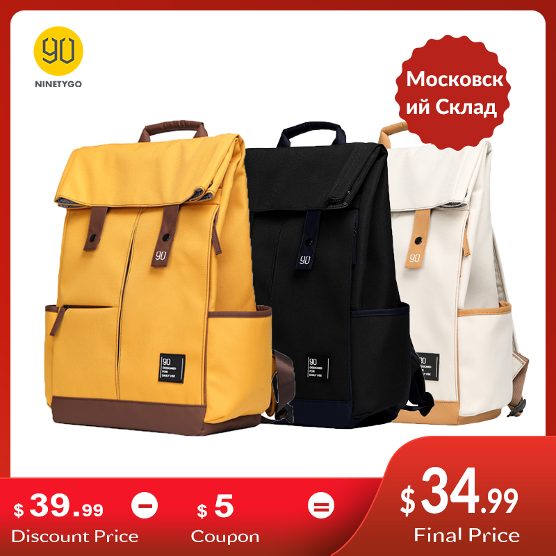 Laptop Backpack School-Bag Ninetygo 90fun Teenager College Unisex Fashion Computer Leisure