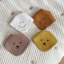 Baby Bib Soft Cotton Baby Drool Bibs Cute Triangle Scarf Adjustable Comfortable Four layers gauze Towel Saliva Newborn Apron